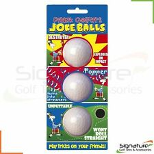 Golf Novelty Gift Fun Prank Joke Golf Balls -- EXPLODING - STREAMER - UNPUTTABLE