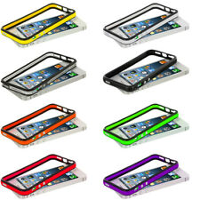 TPU Bumper Color Rubber Skin Case Cover with Metal Buttons for iPhone 5 5G 5th