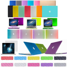 Rubberized Hard Case Shell +Keyboard Cover + screen protector for Apple Macbook