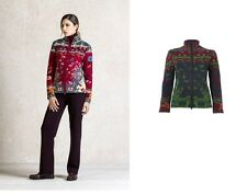 IVKO wolle-jacke Jacquard Jacket Roll Neck Zipper Red Green Anthracite 62509