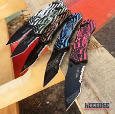 """Wartech 8"""" US FORCES TACTICAL KNIFE 5 Colors Pocket Folding TANTO BLADE Rescue"""