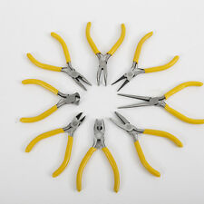 Long Bent Nose End Side Cut Spring MINI Pliers Precision Jewellery Craft Tool