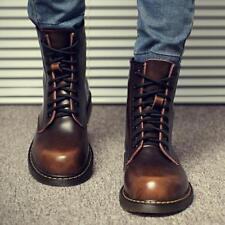 Mens Ankle Boots Lace up High Top Thicken Warm Winter shoes army combat shoes