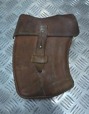 Genuine Vintage Military Issue Leather Curved Ammo Magazine Case Bag Belt Loops