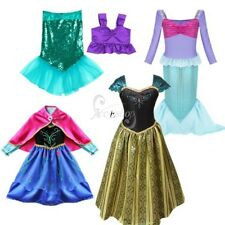 Girls Kids Halloween Party Mermaid Princess Role Play Fancy Dress Costumes Gifts
