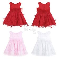 Infant Newborn Baby Flower Girls Dress Princess Pageant Birthday Party Costumes