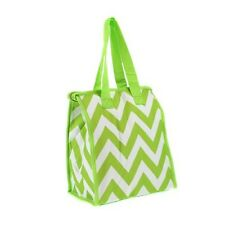 Lime Green Chevron Insulated Lunch Tote Bag-Lunch Bag