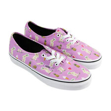 Vans Authentic Womens Pink Canvas Lace Up Sneakers Shoes