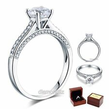 1.25 Ct Lab Created Diamond Engagement Ring 925 Sterling Silver Wedding Bridal@