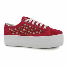 Jeffrey Campbell Play zOMG Platform Shoes Womens Pink/Silver Trainers Sneakers