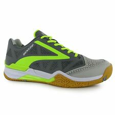 Dunlop Flash Ultimate Squash Indoor Court Shoes Mens Gry/Lime Trainers Sneakers