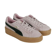 Puma Suede Creepers Womens Pink Suede Lace Up Lace Up Sneakers Shoes
