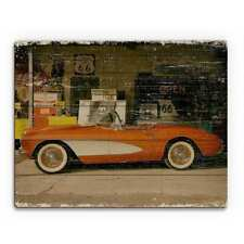 Stopping on Route 66 Wood Slim Wall Art