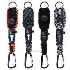 Outdoor Camping Survival whistle Paracord Bracelet Fishing Tactical Hiking Kit