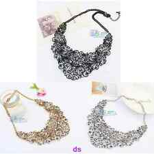 Fashion Retro Water Droplets Shape Hollow Out Female Short Necklace Dress Chain