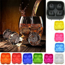 Silicon Ice Cube Ball Maker Mold Sphere Mould Brick Party Tray Round Bar Hot 34L