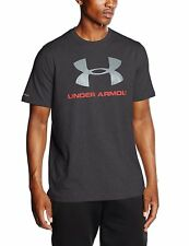 Under Armour Men's Charged Cotton Sportstyle Logo Tee, Black (001), Medium