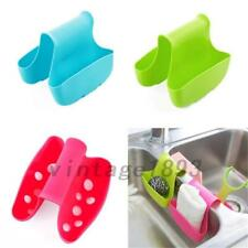 Portable Kitchen Organizer Sponge Holder Saddle Style Double Sink Storage Rack