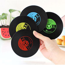 Round Vinyl Coaster Groovy Record Cup Drinks Holder Mat Place mat Tableware