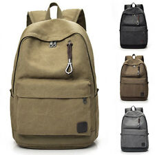 Fashion Men Vintage Canvas Backpack Rucksack Laptop School Travel Shoulder Bag