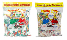 WEAVING Loom LOOPS Loopers 16 oz Bag CHOOSE COTTON OR NYLON Made in USA