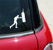 BOXING BAG BOXER GLOVES GRAPHIC DECAL STICKER ART CAR WALL DECOR