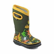 Bogs Kid's Classic Dino Kids' Insulated Boots Moss multi 72151-356