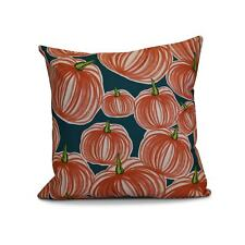 18 x 18-inch, Pumpkins-A-Plenty, Geometric Print Outdoor Pillow