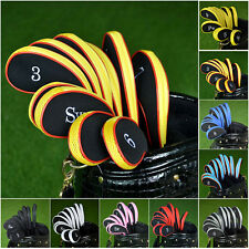 Black&Red Neoprene Iron Headcover Golf Club Cover Sleeve Protective Case 10Pcs