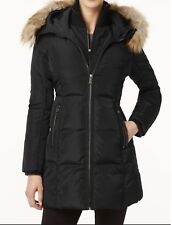 Michael Kors Women's Down Puffer Parka Quilted faux Hood coat Jacket size XL XXL