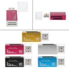 All-In-One Aluminium USB 2.0 Multi Memory Card Reader For SD/SDHC MMC TF MS M2