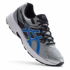 NIB MENS ASICS GEL CONTEND 3 RUNNING SHOES SILVER/BLUE SIZE 9 OR 10 NEW IN BOX