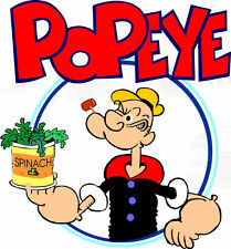 "5""-9""  POPEYE THE SAILOR MAN  CHARACTER  WALL SAFE STICKER  BORDER CUT OUT"