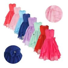 Kids Flower Girls Dress Wedding Bridesmaid Birthday Graduation Party Prom Gown