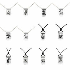 Chinese Zodiac Silver Pewter Charm Necklace Pendant Jewelry