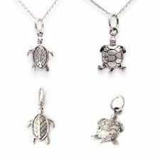 Turtle Tortoise Wildlife 92.5 Sterling Silver Pewter Brass Necklace Pendant