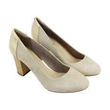 Hush Puppies Sisany Pump Womens Tan Suede Casual Dress Slip On Loafers Shoes