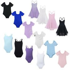 Girls Kids Gymnastics Ballet Leotard Dress Skate Party Dance Costume Tutu Skirt