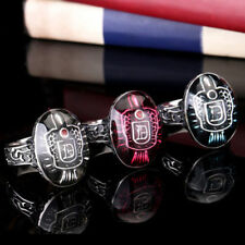 Tri-color Mens The Vampire Diaries Enamel 316L Stainless Steel Ring Multi-size