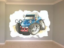 Huge Koolart Cartoon Vw Beach Buggy Wall Sticker Poster Mural 1699