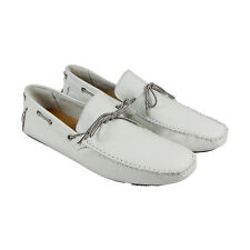 GBX Jeyck Mens White Leather Casual Dress Slip On Loafers Shoes