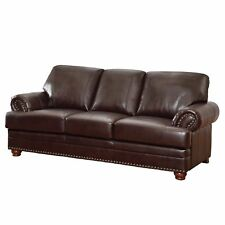 Coaster Company Brown Bonded Leather Sofa/ Loveseat