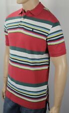 Polo Ralph Lauren Red White Striped Classic Fit Mesh Shirt Navy Pony NWT