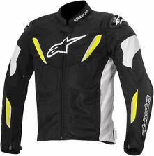 Alpinestars Mens Black/White/Yellow Fluo T-GP R Air Motorcycle Riding Jacket