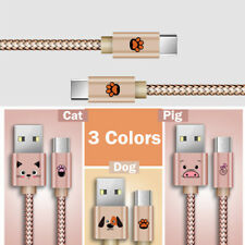 Cute Type C Micro USB Fast Data Charger Cable Lead for Samsung S5 S6 S7 Android