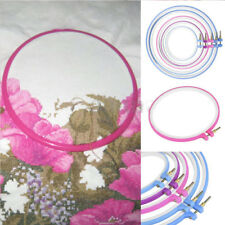 Plastic Cross Stitch Machine Embroidery Hoop Ring Sewing Tool 9.5-27.5cm NEW