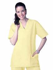 NEW SCRUB TOP Nursing Medical Uniform Womens XS Small Medium Large Yellow A118