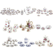 1/12 Dolls House Miniature Porcelain Coffee Tea Set Tableware Vase Kitchen Accs