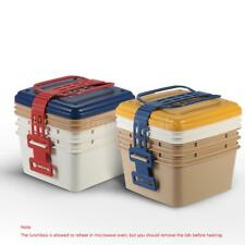 3-Layer Portable Lunch Box Lunchbox Picnic Box Food Container Picnic Hot J6J8