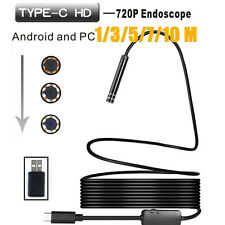 Waterproof 1/3/5/7/10M Android USB/TYPE-C Endoscope Inspection Camera 8 LEDs